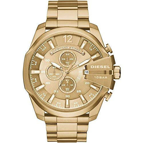 Relógio Diesel Core Masculino Dourado Pulseira Aço Dourado