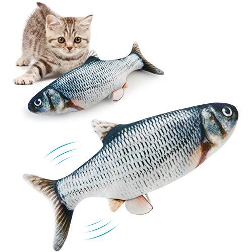 Bangcool Giocattoli per Pesci con Catnip, Giocattoli per Gatti con Pesci avvolgenti/Giocattoli per Pesci elettrici/Giocattoli con Catnip per Gatti e Gattini