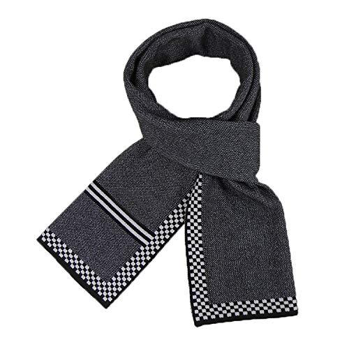 Heren/dames/modieuze sjaal/herfst/winter/klassiek vierkantje/wild/verdikking/warm/rok 30 * 180 cm zwart-wit/accessoires.