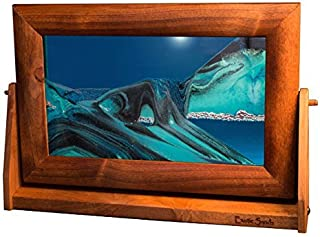 Exotic Sands - American Made Quality - Lg11 Large Alder Frame (Ocean Blue) Bubble Motion Falling Sand. Oprah's Favorite Things, (Unique