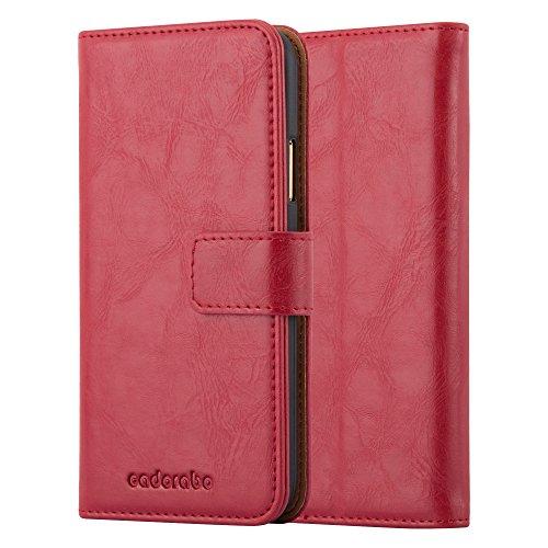 Cadorabo Funda Libro para Apple iPhone X/XS en Rojo Burdeos - Cubierta Proteccíon con Cierre Magnético, Tarjetero y Función de Suporte - Etui Case Cover Carcasa