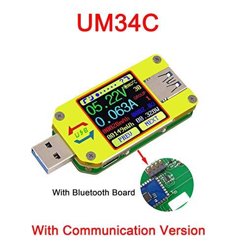 ARCELI APP USB 3.0 Typ C DC Voltmeter Amperemeter Spannung Strommesser Batterieladung messen Kabelwiderstand Tester