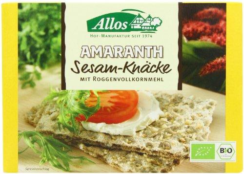 Allos Amaranth Sesam Bio Knäcke, 6er Pack (6 x 250 g)