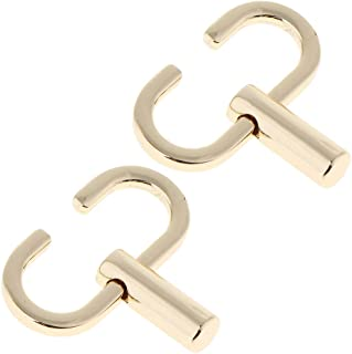 F Fityle 2/pack Gold Shoulder Chain Strap Adjustable Buckle Metal Hooks Length Adjusting