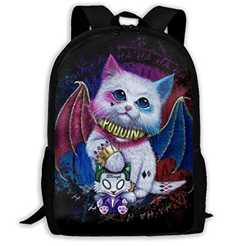 H.X Shop Harley Quinn Cat Fashion Adult Backpack College Schoolbag Travel Backpack Sports Backpacks for Man Women Bags Outdoor Backpacks