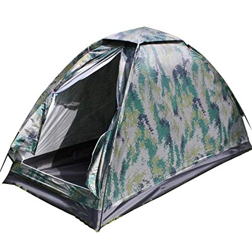 ZYF Outdoor Camouflage Tent Beach Tent Camping Tent Single Layer Polyester Fabric Waterproof Carry Bag,camouflage
