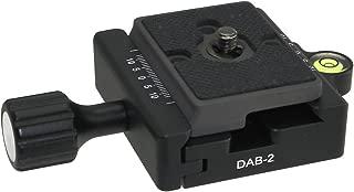 Combo: Boss Adapter plus DBA-02 Desmond 60mm QR Clamp w Level Arca / Bogen 3157N Compatible 3/8