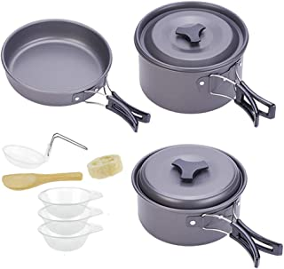 Apieceblue Camping Cookware Backpacking Cooking Set Nonstick for Outdoor Camping Backpacking Hiking Picnic
