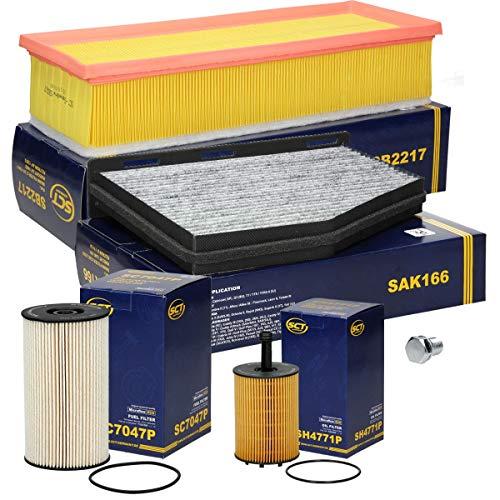Inspektionspaket Wartungspaket Filterset 1 x Kraftstofffilter 1 x Innenraumfilter mit Aktivkohle 1 x Luftfilter 1 x Ölfilter 1 x Ölablaßschraube
