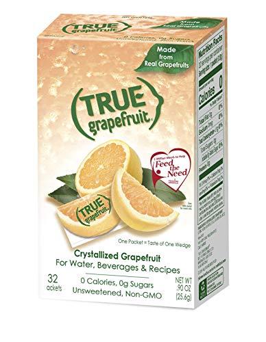 TRUE GRAPEFRUIT Water Enhancer (32 Packets)   Zero Calorie Unsweetened Water Flavoring   For Water  Bottled Water & Recipes   Water Flavor Packets Made with Real Grapefruit