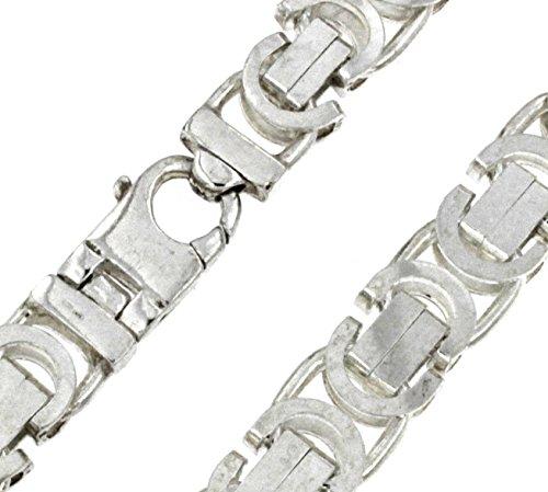 Königskette flach massiv 925 Silber 16 mm 80 cm Halskette Silberkette Herren-Kette Damen Geschenk Schmuck ab Fabrik Italien tendenze