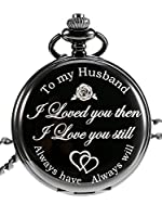 "Inciso parole delicate: inciso orologio da tasca idea regalo caratteristiche le parole ""To my Husband I loved you then, I love you still, Always have, Always will"", buon anniversario regalo per lui Significato profondo: ""To my Husband I loved you the..."