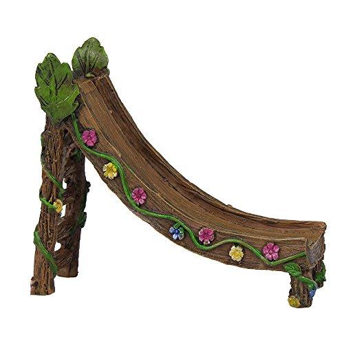 Jardín de hadas–Hada muebles de suministro, Slide, con hojas y flores