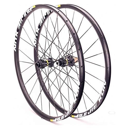 26/27.5/29-inch Mountain Bike Wheel Set Disc Brake MTB Wheels Thru axle Six Holes 21mm Height 24 Holes (Color : 8-11 Speed, Size : 27.5inch)