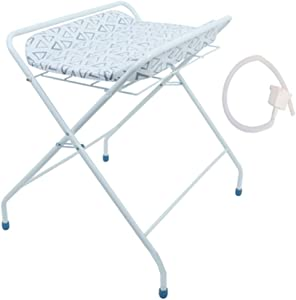 Baby Changing Table Foldable with Concealed Bath  Save Space Infant Diaper Station Nursery Organizer for Newborn  Portable Newborn 0-24 Months Old