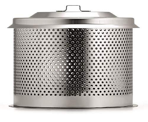 LotusGrill ® Ersatz-Kohlebehälter Small/Kompakt aus Edelstahl - Speziell entwickelt für den raucharmen Small/Kompakt Holzkohlegrill/Tischgrill