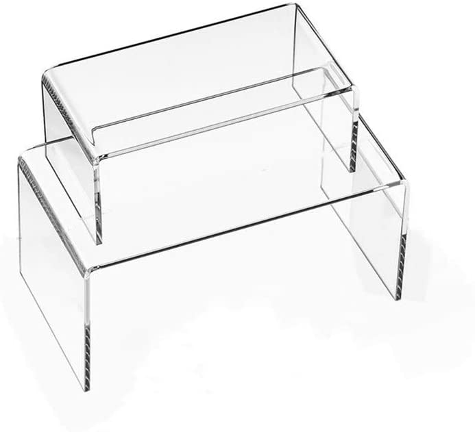 RY sold out DISPLAY2 Pack Clear Acrylic S Display Risers For U-Shaped Manufacturer direct delivery