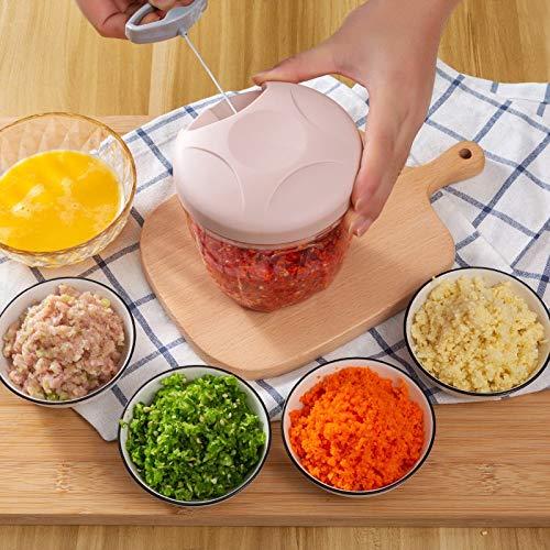 PPuujia Cortadora de cebolla para frutas y vegetales, prensas de ajo, cortador de cebolla, accesorios de cocina, herramientas trituradora de ajo, cortador de verduras (color: A1 450 ml)