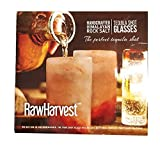RawHarvest Himalayan Pink Salt Tequila Shot Glasses 6 Pack of 3,25'