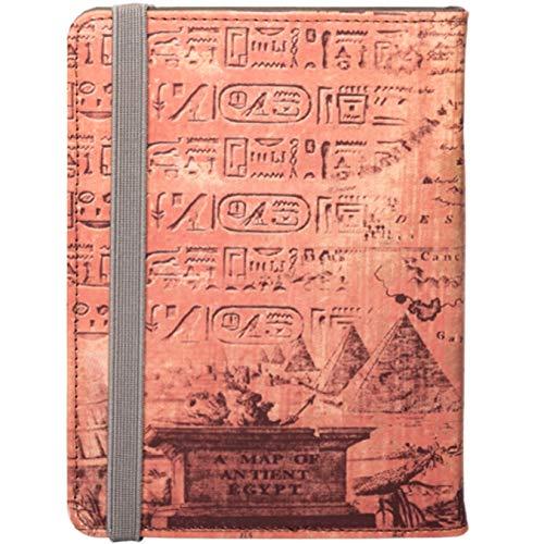 Silver HT - Funda Universal Case Egypt para Ebook Reader de 6 Pulgadas Compatible con Kobo Aura 2, BQ Cervantes, Sony Reader, Amazon Kindle, Wolder. Diseño Egipcio, Color Marrón