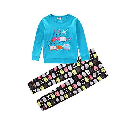MSSMART Ropa para niñas niños niños de algodón trajes de manga larga camiseta pantalones conjuntos 18M-7T - - 4 años