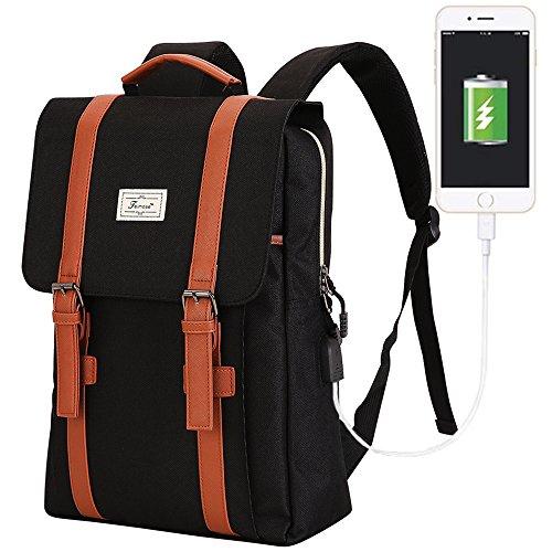 Teimose mochila portátil de 15,6 pulgadas con puerto de carga USB, iCasso ligero...