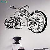 ASFGA Unique Creative Moto Chopper Tendance De La Mode Wall Sticker Vinyle Decal Moto Garage Salon Adolescent Chambre Murale Cadeau De Vacances 126x82 cm