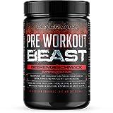 Pre Workout Beast - Hardcore Pre Workout Booster mit Beta Alanin und Koffein, Kreatin Monohydrat, Glutamin (Beerengeschmack - 612g - 80 Portionen)