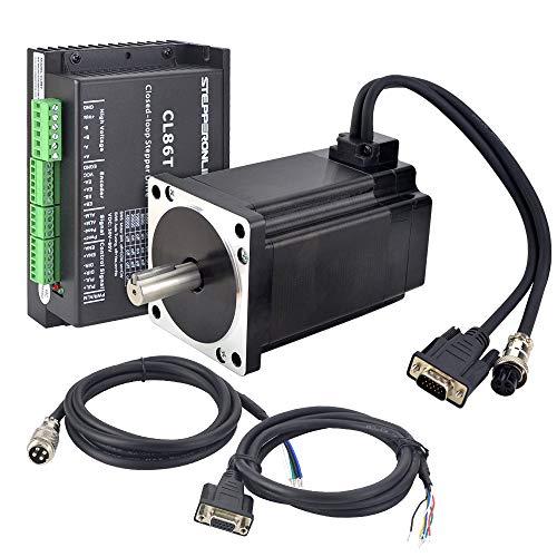STEPPERONLINE Kit de motor paso a paso de 1 eje cerrado, 9,0 Nm 1000CPR Nema 34, motor paso a paso y motor paso a paso 0~8,2 A, 24~80 V CC para máquina de grabado CNC