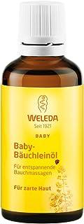 WELEDA Baby Bäuchleinöl, Naturkosmetik Massageöl gegen Bauchschmerzen und Krämpfe von Babys und Kleinkindern, Pflegeöl zur Verdauungsförderung 1 x 50 ml