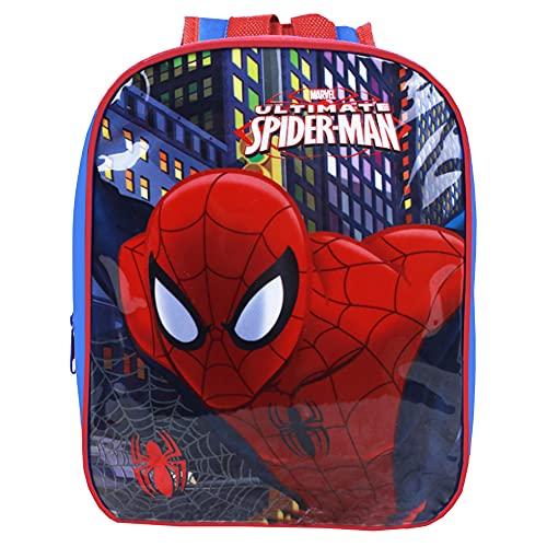 Nesloonp Zaino Spiderman, Zaino Asilo Spiderman Zaino per Bambini Spiderman per Studenti Zaino Regolabile per Libro di Scuola Materna, 10.2 x 7.67 x 3.74 pollici Blu