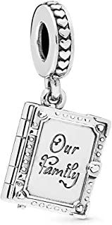 Family Forever Charn 925 Sterling Silver Bead fit Pandora Bracelet Necklace
