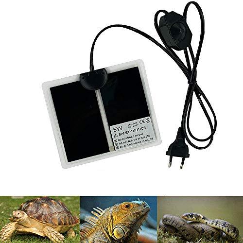 PeSandy - Alfombra calefactora de terrario ajustable con control de temperatura para Reptiles (tortuga, serpientes, lazardos, geckos, arañas, alfombra de seguridad para acuario