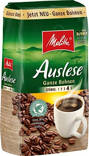 Melitta, Kaffeebohnen kräftig mit rundem Aroma Stärke 4 10 x 500 g, Auslese Ganze Bohnen, 5000 g