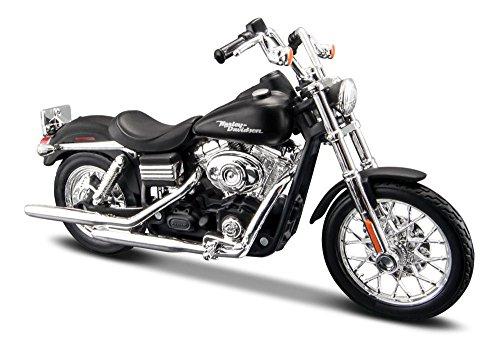 2006 Harley Davidson Dyna Street Bob [Maisto 34360-34], Schwarz, 1:18 Die Cast