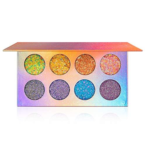 Glitter oogschaduw palet, 8 kleuren Shimmer Ultra gepigmenteerde make-up Oogschaduw Poeder Langdurig waterdicht,A