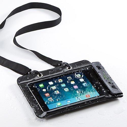 サンワダイレクト iPad タブレットPC 防水ケース お風呂 対応 iPad 10.5インチ汎用 スタンド機能 ストラッ...
