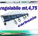 Carson Canna teleregolabile Rigida Trota Fiume Torrente mt.4,75 Pesca al Tocco spiralina rodolon