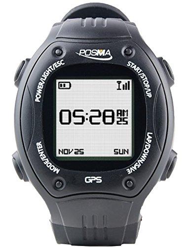 POSMA W2 Navegación GPS Ciclismo Senderismo Multisport Watch con ANT + Compatibilidad STRAVA MapMyRide / MapMyRun, Color Negro