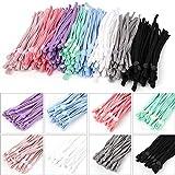 Banda elástica de goma de 8 colores, 160 unidades, 5 mm, cuerda elástica con hebilla ajustable, band...