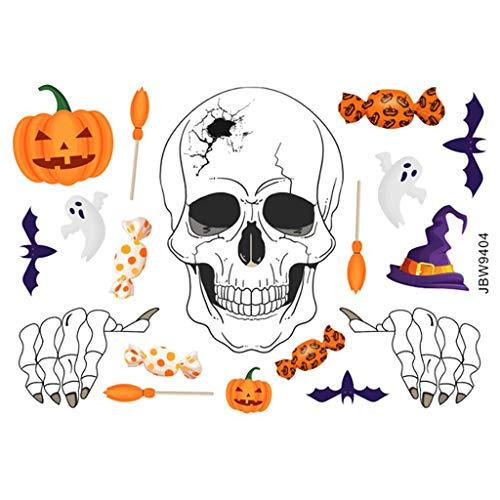 Sayla Aufkleber Halloween Fenster Sticker Fensterbild Statisch Wandaufkleber Party Dekoration Herbstdeko Wandaufkleber Wandbild Wandtattoo Abnehmbare Wandsticker Fenstersticker