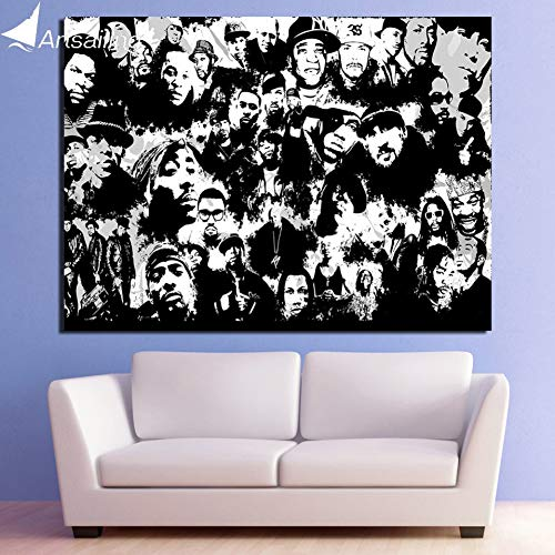 QAZEDC Leinwand Gemälde HD gedruckt 1 stück leinwand Kunst Old School hip hop malerei wandbilder für Wohnzimmer Moderne 60x80cm