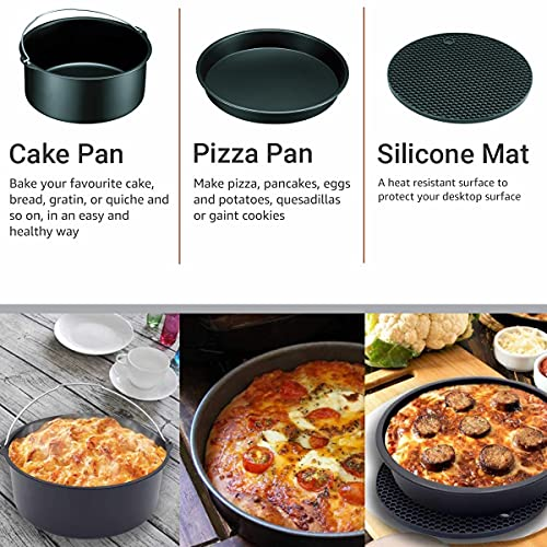 Inalsa Air Fryer cum OTG Accessory Box, Set of 27 pcs Compatible with Air Fryer (Cooking Capacity 2.9L and above) and OTG (10L and above capacity)