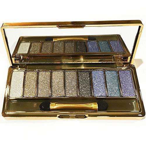 DOUYUAN Purple 9 Couleurs Shimmer Fard À Paupières Palette Ombres À Paupières Et Maquillage Brosse Cosmétiques (Color : 5)