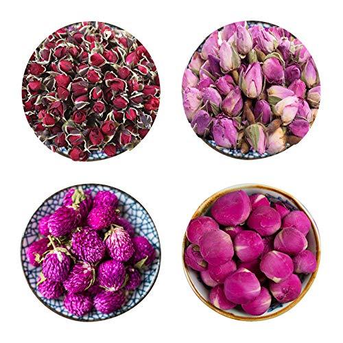 CoolCrafts Fiori Secchi Naturali (30g / Borse) Palla di Peonia, Rosa Essiccata per Decorare Candele Sapone