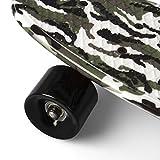 SportPlus Ezy Mini-Cruiser Skateboard, Camouflage Grün, 56 cm - 6