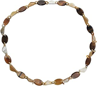 Womens Handmade Buffalo Horn Fashion Chunky Long Chain Necklaces