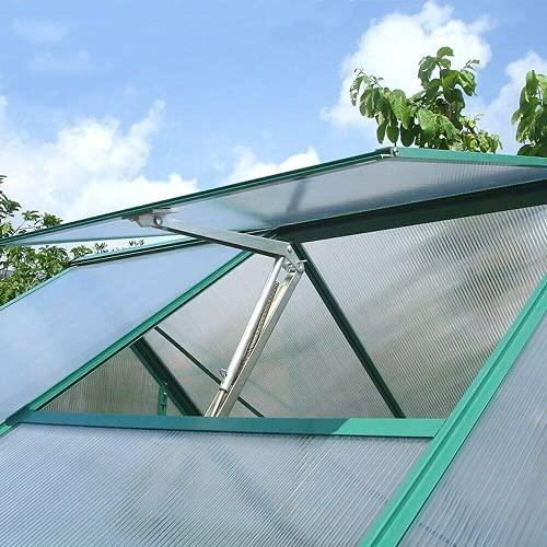 Tawveml Solare Wärme Empfindliche Automatischer Fensteröffner Fensterheber für Gewächshaus Gartenhäuser Temperaturgesteuert Hubkraft 7 kg, Hubhöhe 40 cm Ersatzzylinder(Eine Federn)