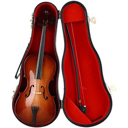 Práctico adorno de instrumento musical de tilo de 9.1 pulgadas, modelo de violonchelo de madera, modelo de violonchelo, amigos para regalo para decoración infantil