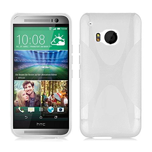 Cadorabo Hülle für HTC ONE M9 (3.Gen.) in HALB TRANSPARENT – Handyhülle aus flexiblem TPU Silikon – Silikonhülle Schutzhülle Ultra Slim Soft Back Cover Hülle Bumper